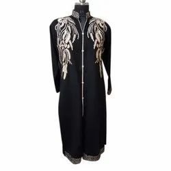 Ladies Black Woolen Embroidery Kurti