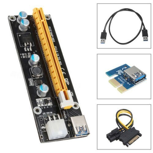 Flexible Flat Cable PCIe PCI Express 1x To 16x Extender Riser FFC PCI-E New