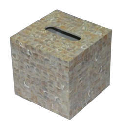 Luxury Tissue Box with Mother of Pearl Inlayed