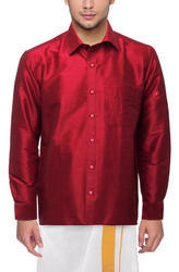 Plain Mens Stylish Silk Shirt