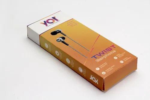 Matte YOR Earphone Packaging Box for Electronics