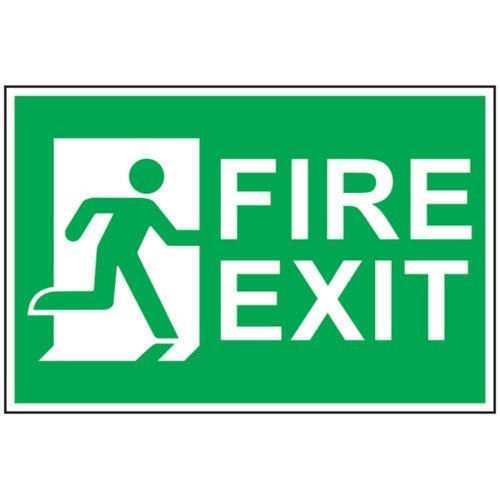 green and white fire exit sign board rs 550 square feet. Black Bedroom Furniture Sets. Home Design Ideas