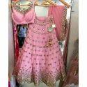 Ladies Designer Pink Lehenga