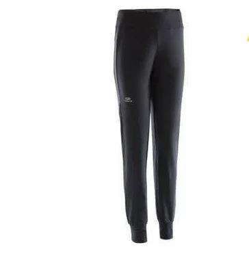 df8d1fa5031828 Polyester Female Decathlon Run Warm Women's Running Trousers - Black ...