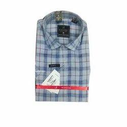 Nizhoni Checks Men Casual Wear Linen Shirt