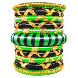 Ethnic Style Beautiful Party Wear Silk Thread Bangles