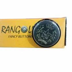Rangoli Round Metal Coat Button, Packaging Type: Box
