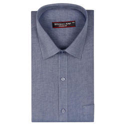 Gray Color Plain Formal Shirt