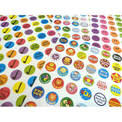 Multicolor Promotional Paper Stickers