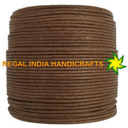 Earth Brown Waxed Cotton Cord