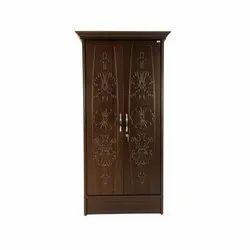 Alexa Greenply Mdf Board Double Door Wooden Almirah