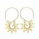Horny Design Friendship Earring Brass Earring Hoop Style Daisy Earring