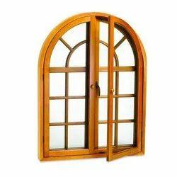 Brown Arch Sheesham Window