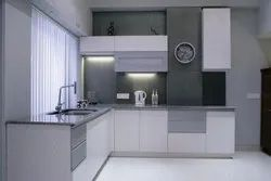 Stainless Steel, MDF L Shape Stainless Steel Modular Kitchen