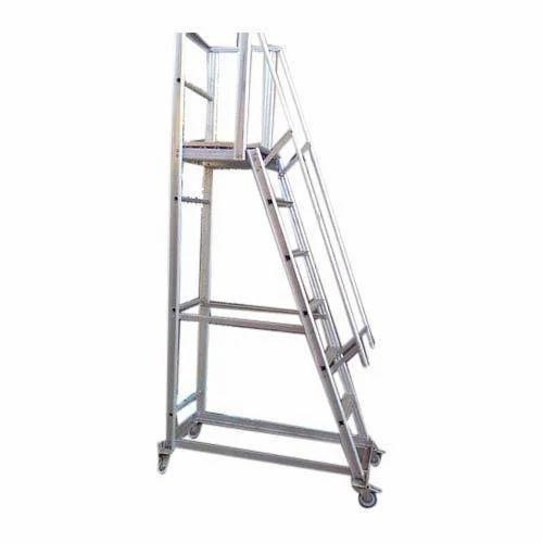 Aluminum Trolley Ladder Aluminum Trolley Step Ladder