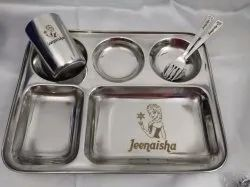 Personalized Stainless Steel 5 in 1 Partition Dinner Set