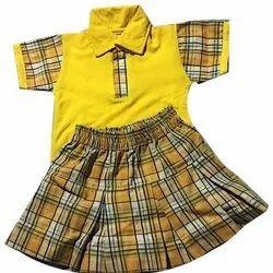 Summer Cotton Kids Girl School Uniforms