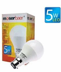 5W ECO LED Bulb B22 Cool White