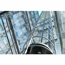 Glass and Stainless Steel Glass Passenger Elevator, Capacity: 6-8 persons