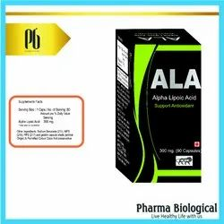 Alpha Lipoic Acid-Ala, Packaging Type: Capsules With Outer Box, Packaging Size: 90 Capsules