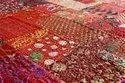 Indian Vintage Patchwork Kantha Quilt Handmade Khambadiya Embroidery Kantha Quilt