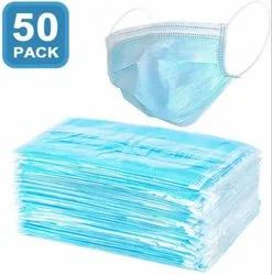 Surgical Face Mask- Disposable 3 Ply 50 Pack