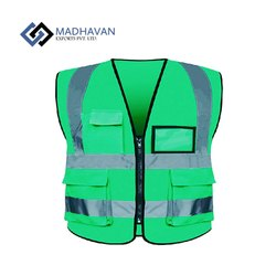 Madhavan Exports Polyethylene Reflective Safety Vest, For Construction, Gsm: 150 To 200
