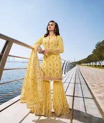 Pr Fashion Launched Beautiful Heavy Designer Sharara Suit