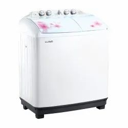 Lloyd 8.5 kg Semi Automatic Top Load Washing Machine, LWMS85L, White