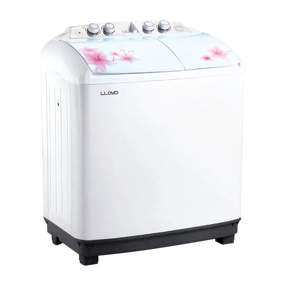 Lloyd 8.5 kg Semi Automatic Top Load Washing Machine, LWMS85L, White