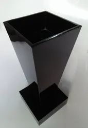 Black Wooden Flower Pot