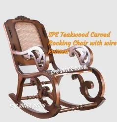 SPE WCRC Std Carved Wooden Rocking Chair price starts from 20, 900, Warranty: One Year