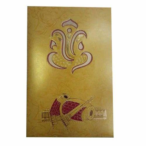 Ganesha Theme Designer Wedding Invitation Card