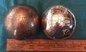 Alsa International Matte Antique Finish Brass Decorative Globe, Size: 4 Inches
