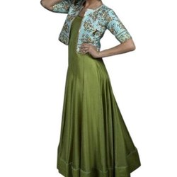 Party wear Rayon Ladies Anarkali Kurti