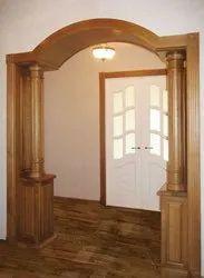 Teak Wood Wooden Pillar, Size/Dimension: 4