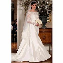 Modern Net,Satin White Gowns