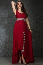 Magical Maroon Maxi Dress