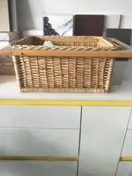 Brown Rectangular 450mm Wicker Basket Hand Crafted, 200-600 Gm