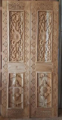 Carved Teak Pooja Door
