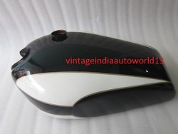 New Triumph T160 Black And White Painted Gas Fuel Petrol Tank