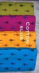 Cotton slub print fabric