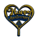 Anniversary Cake Heart Shaped Topper