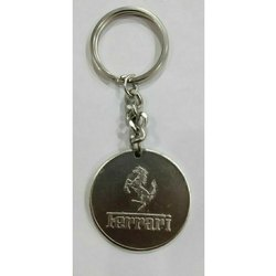 Round Metal Keychain