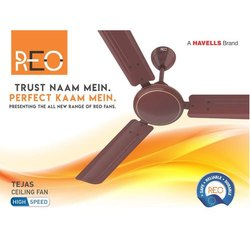 Havells Reo High Speed Ceiling Fan, Sweep Size: 1200 Mm, Power: 78 W