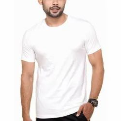 White Plain Men Round Neck T-Shirt