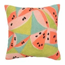 Printed Multi-Colored Cushion Cover