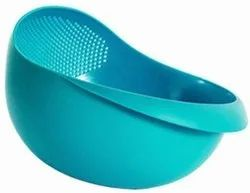 Multicolor Plastic Rice & Vegetable Washing Bowl, For Home