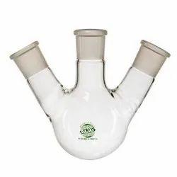 Rajas Flask Round Bottom, 3 Neck Angular