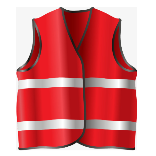 V4you Polyester Construction Safety Jackets, Traffic Control and Auto Racing